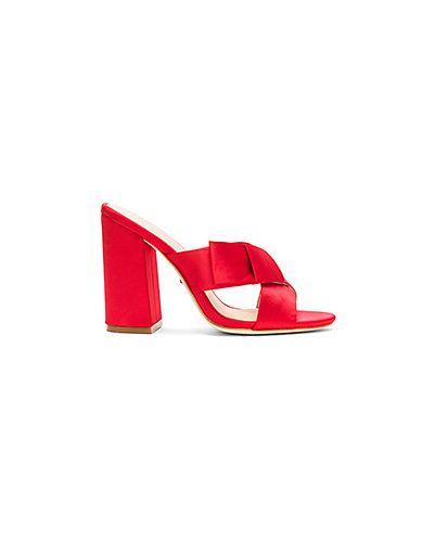 Красные мюли на каблуке Raye