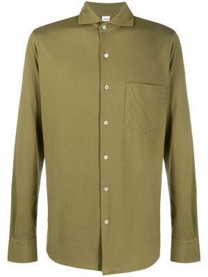 Koszula z długim rękawem klasyczna wojskowy Aspesi