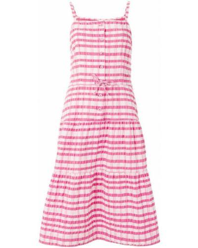 Розовое платье миди на бретелях с воротником винтажное Courrèges Pre-owned