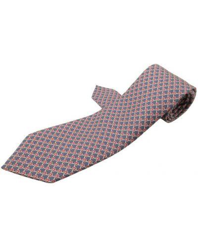 Krawat z jedwabiu - niebieski Hermès Vintage