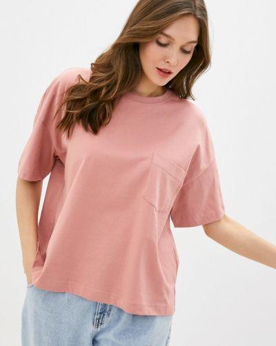 Розовая футболка с короткими рукавами Sela