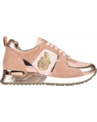 Кроссовки замшевые розовый Gianni Renzi