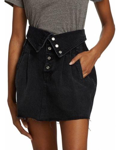 Długa spódnica bawełniana - czarna Re/done