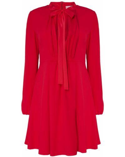 Платье мини розовое с декольте Red Valentino