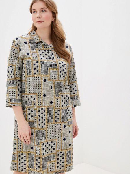 Платье осеннее серое Лори