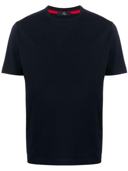 Koszula krótkie z krótkim rękawem prosto niebieski Fay