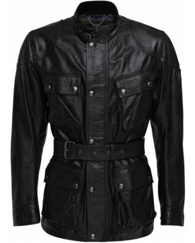 Кожаная куртка на молнии с поясом Belstaff