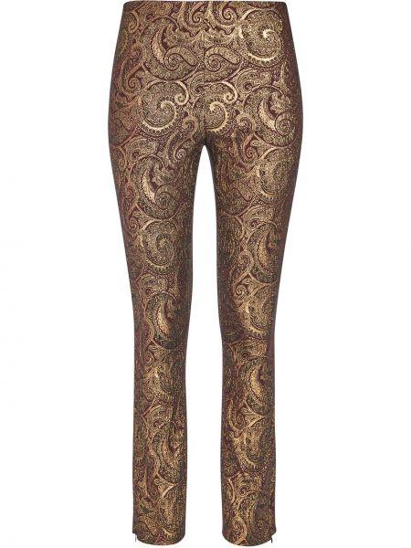 Брючные желтые укороченные брюки скинни Alice+olivia