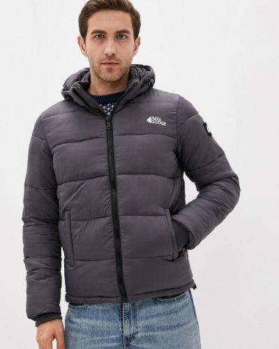 Утепленная серая короткая куртка Paragoose