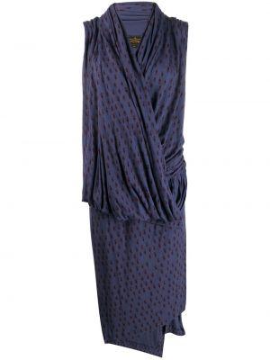 Приталенное платье миди с запахом винтажное с драпировкой Vivienne Westwood Pre-owned
