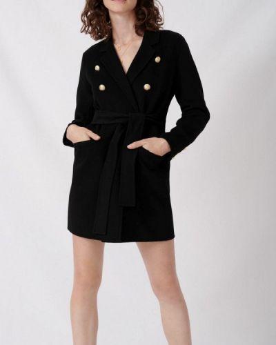 Черное пальто Maje
