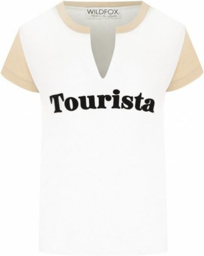 Белая футболка с надписями Wildfox