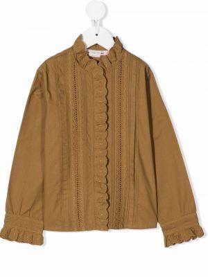 Bluzka z haftem - zielona Bonpoint