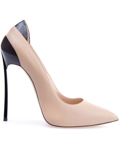 Туфли-лодочки на каблуке кожаные Casadei