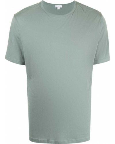 Зеленая футболка с короткими рукавами Sunspel