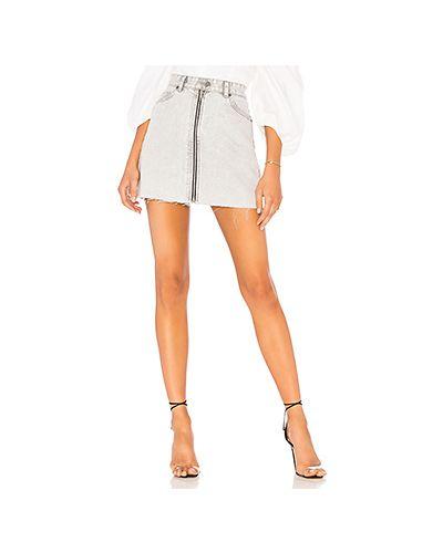 Джинсовая юбка на пуговицах с карманами Dr Denim