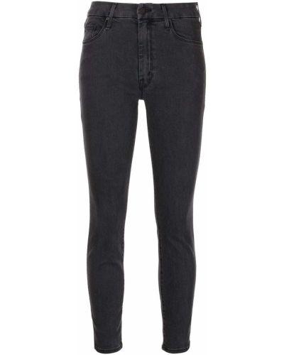 Темно-серые зауженные джинсы на шпильке классические Mother