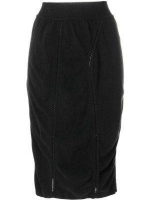 Черная юбка мини винтажная с рукавом 3/4 с драпировкой Alaïa Pre-owned