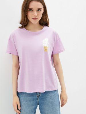 Розовая футболка с короткими рукавами Fine Joyce