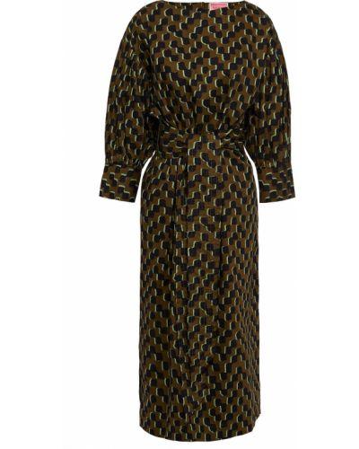 Хлопковое платье миди - зеленое Kate Spade New York