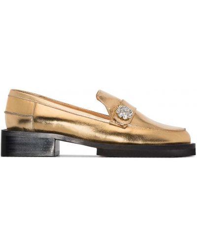 Loafers skorzane Ganni