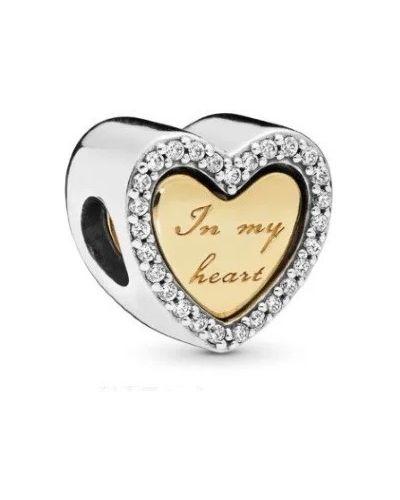 С цирконием золотой браслет металлический Pandora