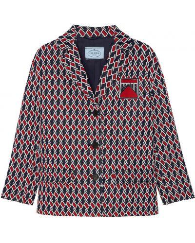 Укороченное пальто однобортное с воротником Prada