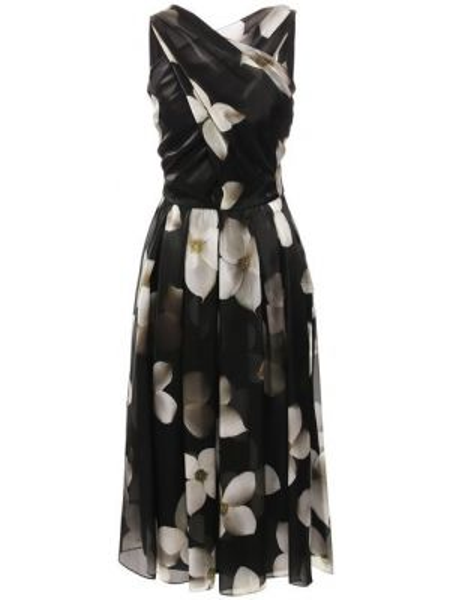 Платье из органзы приталенное Ralph Lauren