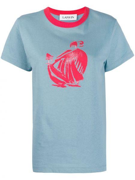 Рубашка с коротким рукавом в полоску итальянская Lanvin