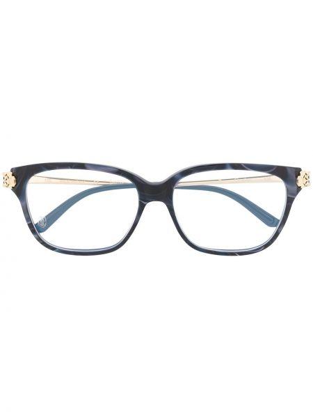 Oprawka do okularów metal niebieski Cartier