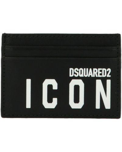 Czarny portfel Dsquared2