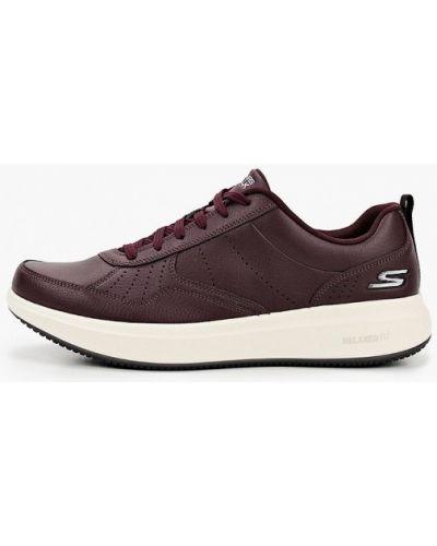Красные кожаные кроссовки Skechers