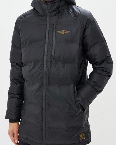 Зимняя куртка утепленная черная Aeronautica Militare