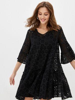 Хлопковое платье - черное Fresh Cotton