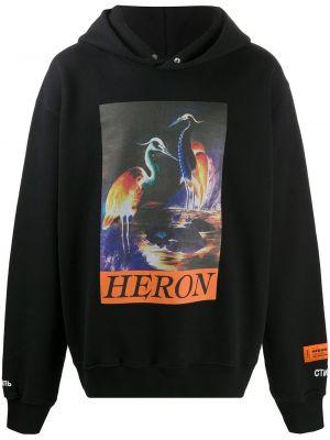 Czarna bluza z kapturem bawełniana Heron Preston