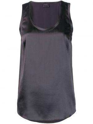 Bluzka bez rękawów jedwabna plik wsadowy Brunello Cucinelli