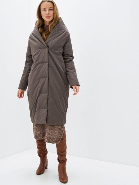 Теплая коричневая утепленная куртка Sultanna Frantsuzova
