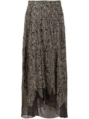Asymetryczny spódnica z haftem za pełne Brunello Cucinelli