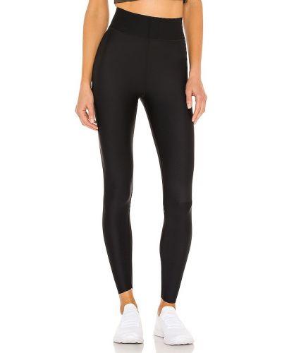 Czarne legginsy z paskiem z nylonu Ultracor