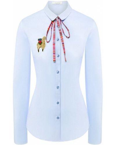 Блузка с бантом - голубая Van Laack