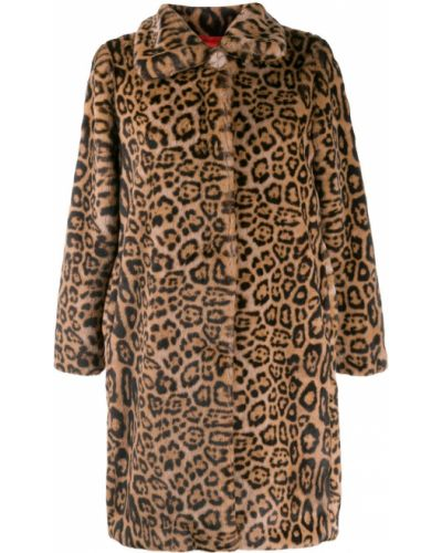 Длинное пальто на кнопках леопардовый Bellerose
