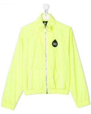 Спортивная желтая куртка с карманами на молнии Natasha Zinko Kids