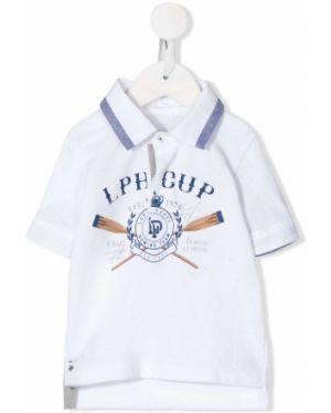 Асимметричная белая классическая рубашка Lapin House