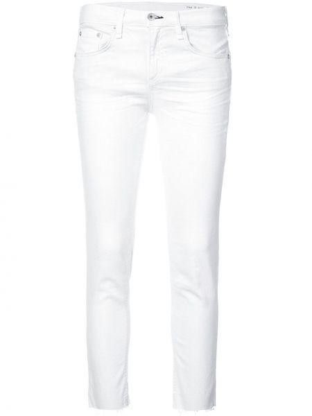 Укороченные джинсы белые Rag & Bone/jean