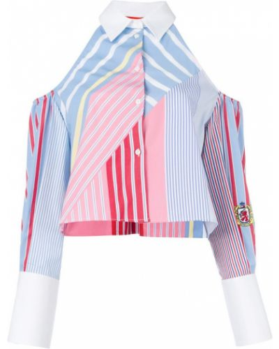 Классическая рубашка в полоску хлопковая Tommy Hilfiger