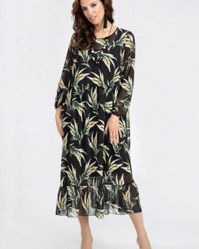 Повседневное черное платье Prima Linea