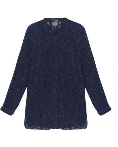 Шелковая блузка - синяя Damir Doma