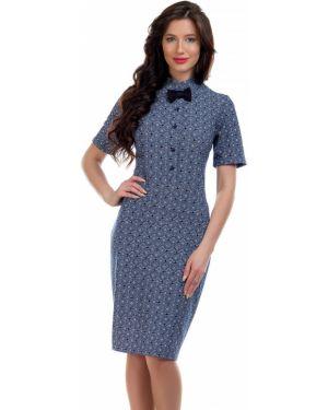 Платье мини деловое на пуговицах Liza Fashion