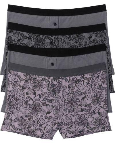 Фиолетовые трусы-шортики с рисунком Bonprix
