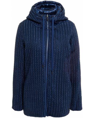 Пуховая синяя куртка с капюшоном Dkny